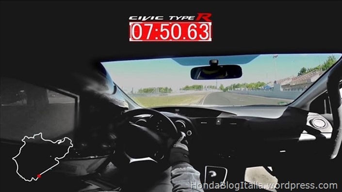 2015 Civic Type R development car achieves Nürburgring lap time of 7:50.63 seconds