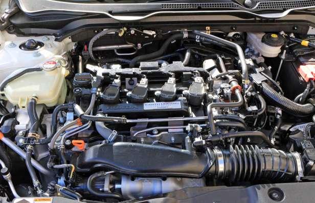 The Honda Civic's new 1.5-litre turbocharged four-cylinder engine.