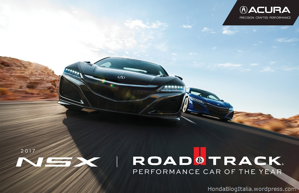 Acura NSX 2017 Performance Car of the Year
