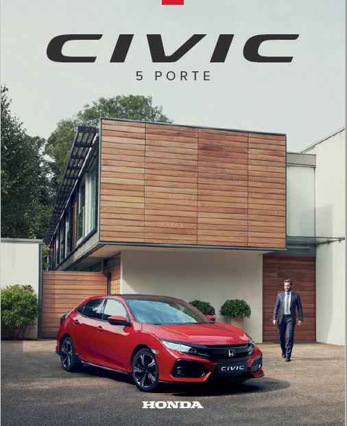 brochure honda civic 5 porte 2017 honda blog italia. Black Bedroom Furniture Sets. Home Design Ideas